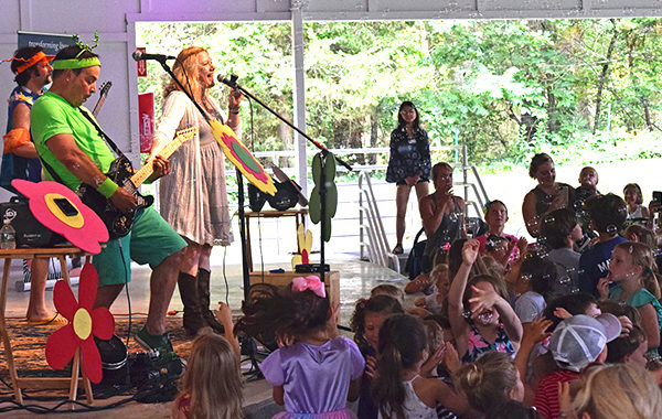 Karen K and the Jitterbugs performing at SSC's Wacky Wednesdays Family Concerts.