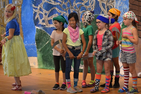 Children performing in a play.