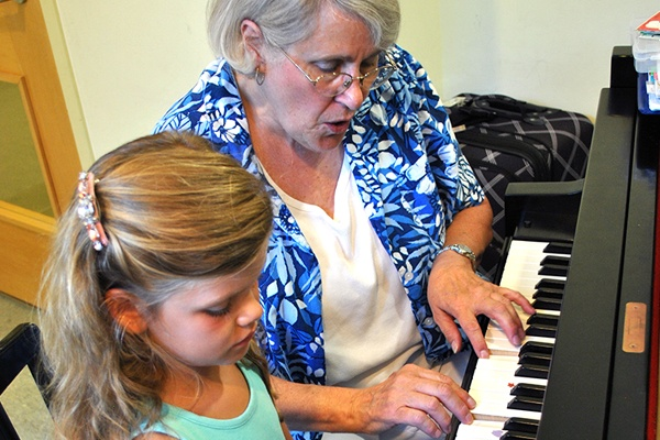 Early childhood piano lesson